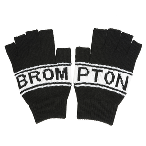 Brompton Logo Knitted Fingerless Gloves