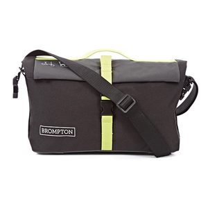 Brompton Roll Top Bag - Black/Grey/Lime Green