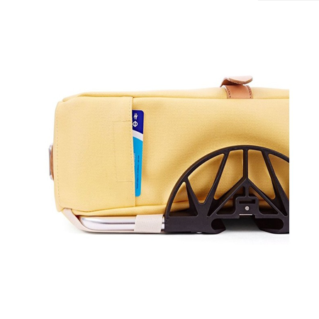 Yellow Canvas Brompton Shoulder Bag with Frame - bottom