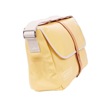 Yellow Canvas Brompton Shoulder Bag with Frame - side