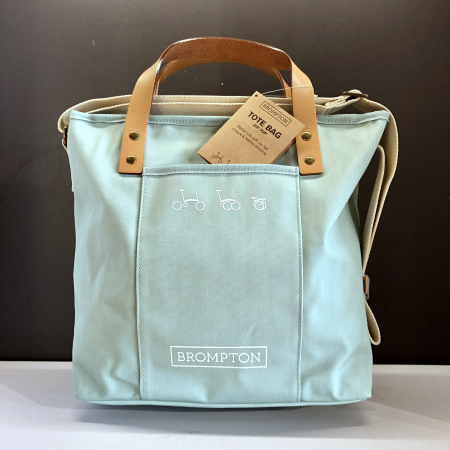 Brompton Tote Bag - Turkish Green - With Frame and Rain Cover