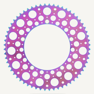 Bespoke Chainrings 60T De Luna Oil Slick 130BCD 3/32 - oil slick colour side