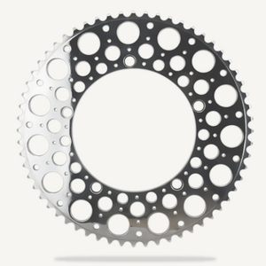 Bespoke Chainrings 60T De Luna - Polished Silver - 130BCD 3/32 for Bromptons