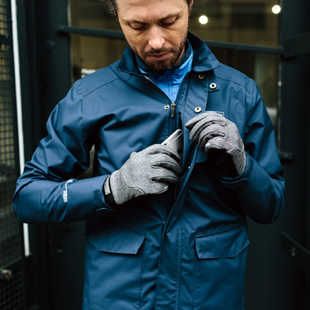 London Waterproof Jacket - Navy - Small