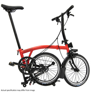 Brompton - S6L - Rocket Red Black Edition