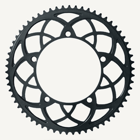 Bespoke Chainrings 54T Rose Window -'Black' - 130BCD 3/32 - for Brompton