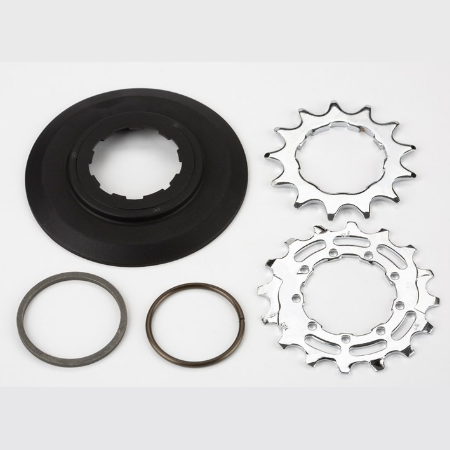 Brompton Sprocket and Disc Set. 13/16t, 3/32in to suit Brompton Wide Range 6 speed