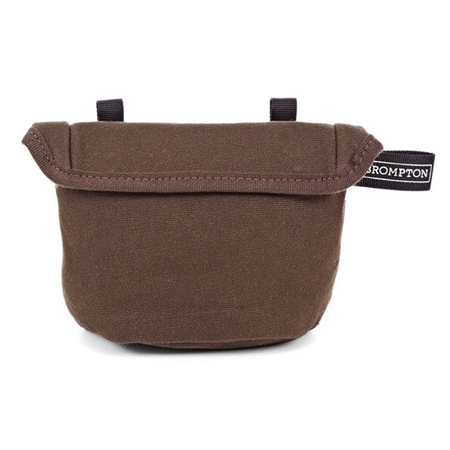 Khaki (Waxed Cotton) Brompton Saddle Pouch - front