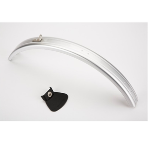 Silver Brompton Rear Mudguard - Blade & Flap Only - L Type (no Rack)
