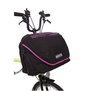 Brompton C-Bag - Black with Berry Crush Trim