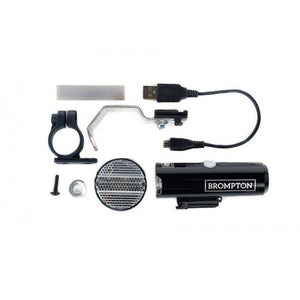Brompton Front Light Cateye Volt 400 with USB recharching cable and fixings
