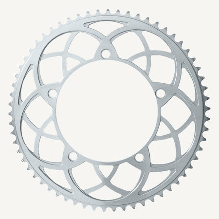 Bespoke Chainrings 54T Rose Window Silver 130BCD 3/32