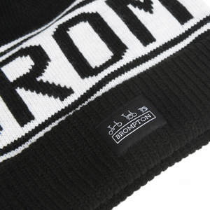 Brompton Logo Knitted Beanie Hat - logo