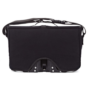 Black Brompton Shoulder Bag with Frame - back and frame