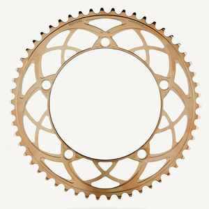 Bespoke Chainrings 54T Rose Window Copper PVD 130BCD 3/32