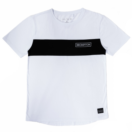 White Brompton Logo T-shirt - Medium - laid flat