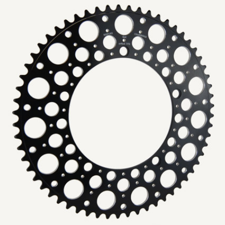 Bespoke Chainrings 54T De Luna - Black redrilled - 130BCD 3/32 - for Brompton