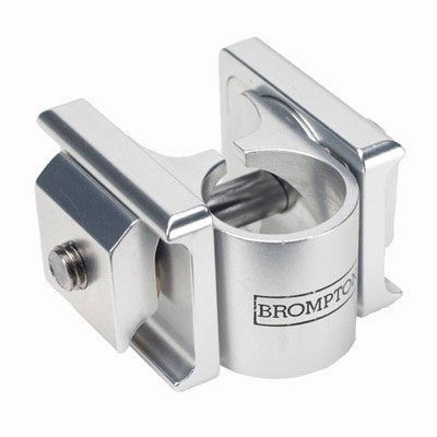 Silver Brompton Pentaclip Saddle Clamp