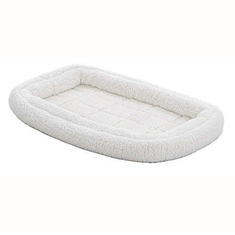 Deluxe Fleece Double Bolster Pet Bed