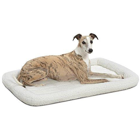 White Fleece Pet Bed