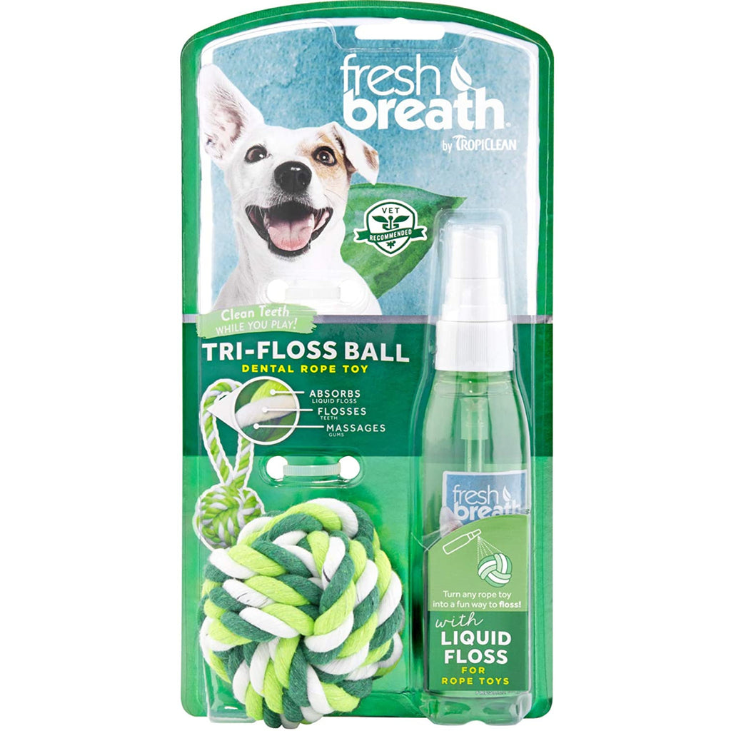 Fresh Breath Tri-Floss Rope Ball with Liquid Floss