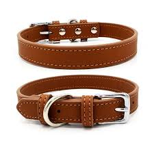 Brown Leather Collar Large