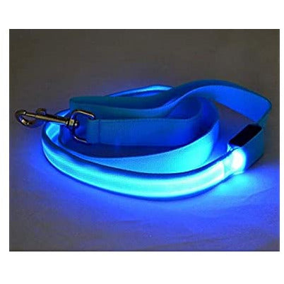 LED Leash Light Blue