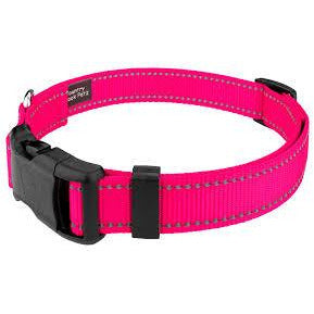 Reflective Collar and Leash Set (Pink)