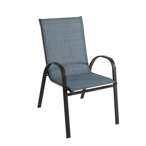 Hampton Bay Stackable Outdoor Chair (Denim)