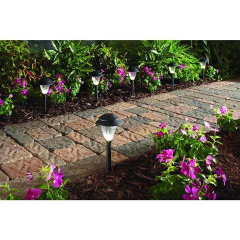 Hampton Bay Black Outdoor Landscape Path Light Set with Transformer (6-Pack)