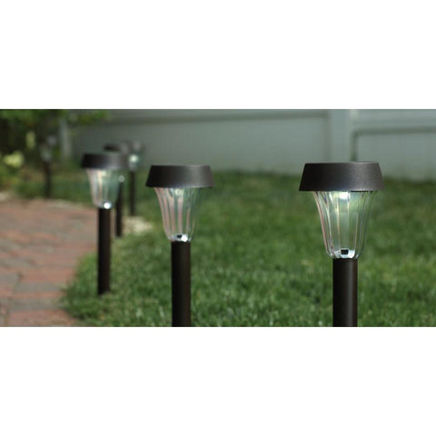 Hampton Bay Solar LED Pathway Lights - Dark Brown (6-Pack)