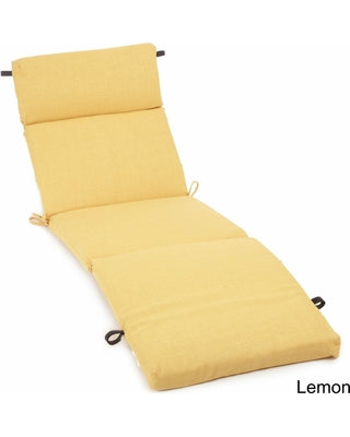Blazing Needles 72-inch All-Weather Chaise Lounge Cushion - Lemon
