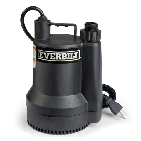 Everbilt 1/6 HP Plastic Submersible Utility Pump (1680 GPH)