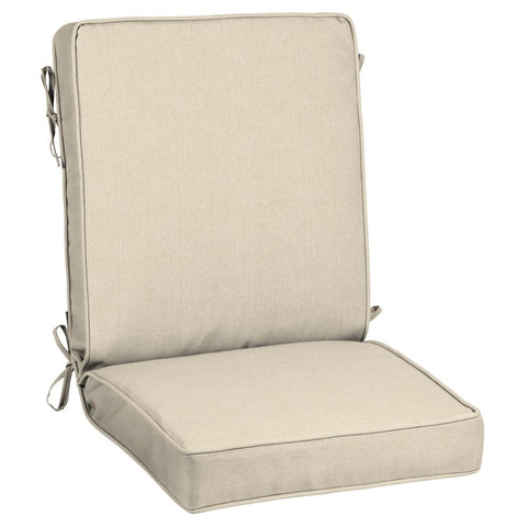 21 x 20 Sunbrella Canvas Flax Outdoor Dining Chair Cushion