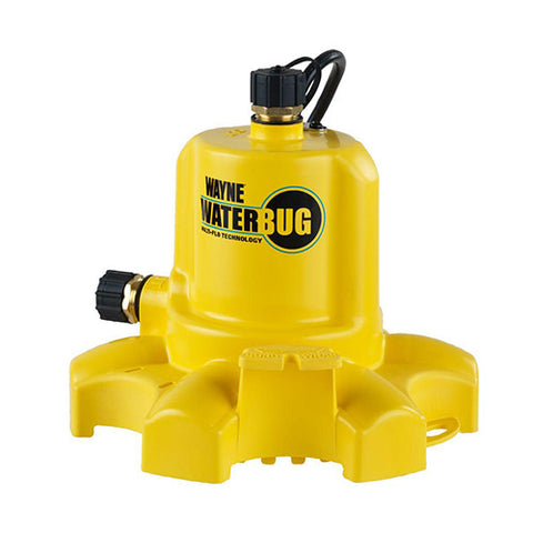Wayne 0.16 HP WaterBUG Submersible Utility Pump with Multi-Flo Technology