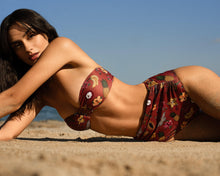 Load image into Gallery viewer, COCOS HIGH RISE IN SPICE RED La Pêche Swim
