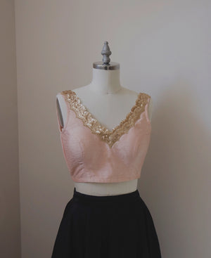 Hanna Crop Top in Blush Peach