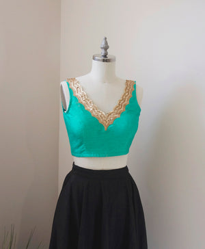 Hanna Crop Top in Tiffany