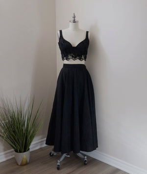 Pri Bustier Crop Top in Black
