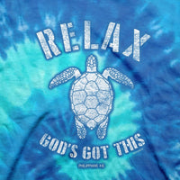 Christian Tie Dye T-Shirt Relax Turtle