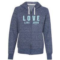 grace & truth® Adult French Terry Zip Hoody - Love Like Jesus™