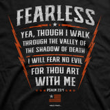 HOLD FAST Men's T-Shirt Psalm 23:4 Fearless