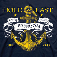 Mens T-Shirt Hold Fast Anchor