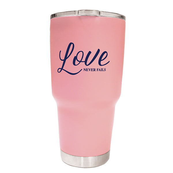 Love Never Fails Stainless Steel Tumbler