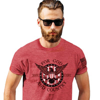 HOLD FAST Men's T-Shirt For God And Country