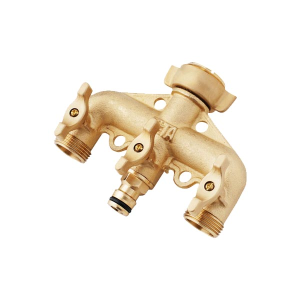 Brass 3-Way Tap Adaptor