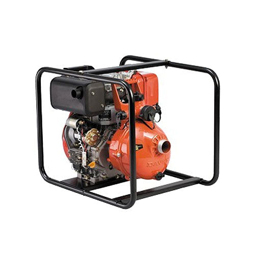 "Davey Firefighter Pump Twin Stage L70N Yanmar 1.5"" In & Out (4 Outlet) Deluxe Frame Electric Start"