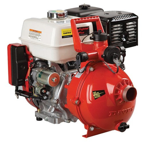 "Davey 5213HE Firefighter Pump Twin Stage GX390 Honda 2"" In & Out (3 Outlet) Electric Start"