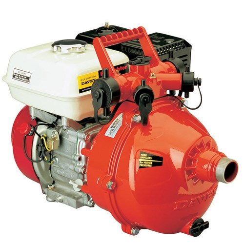"Davey Firefighter Pump Twin Stage GX160 Honda 1.5"" In & Out (4 Outlet)"