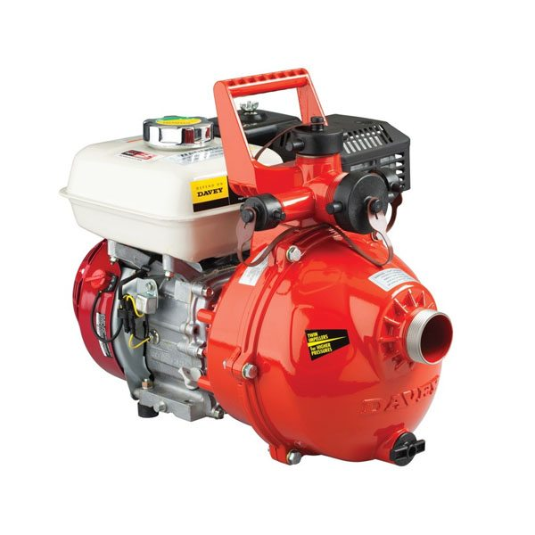 "Davey Firefighter Pump Twin Stage GX200 Honda 1.5"" In & Out (4 Outlet) Electric Start"